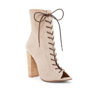 New! Lami Peep Toe Bootie